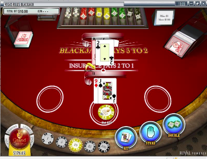jouer au blackjack sur 21 grand casino