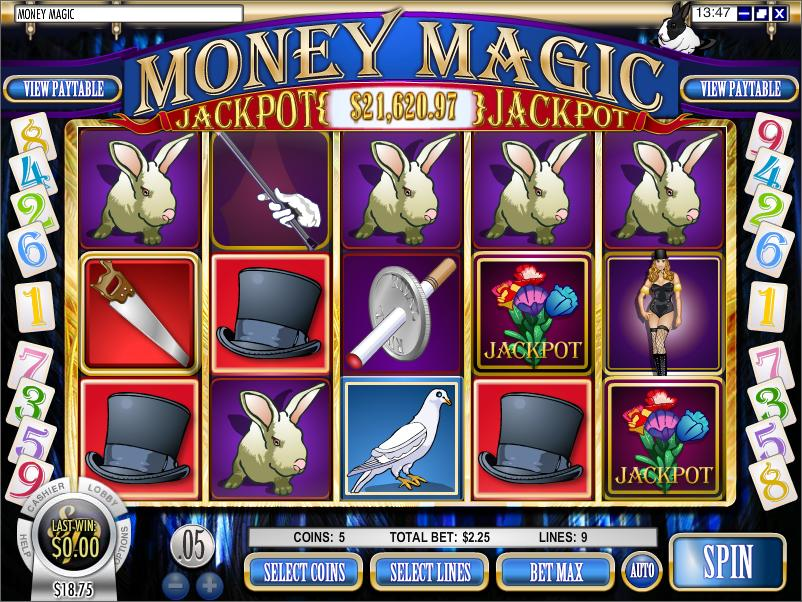 machine a sous money magic